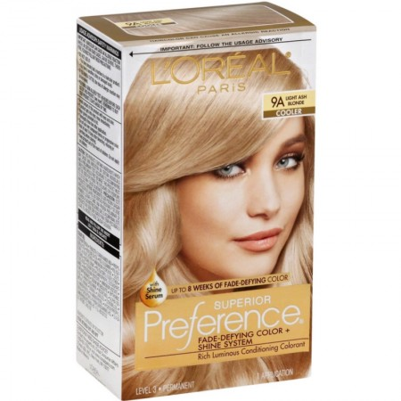 L'Oreal Superior Preference Light Ash Blonde 9A Cooler,1 Each [071249253250]
