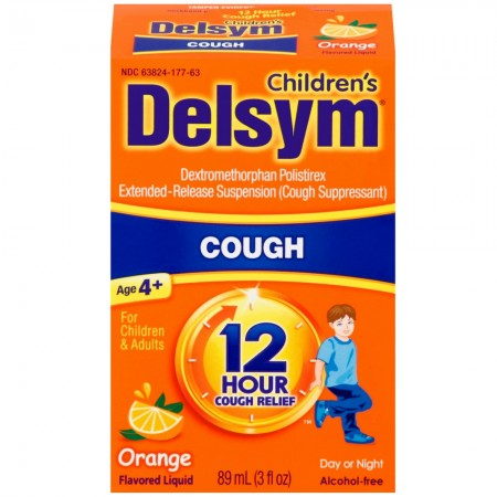 Delsym Children's Cough Suppressant Liquid, Orange Flavor, 3 oz? [363824276632]