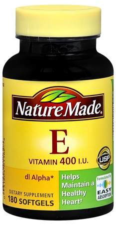 Nature Made dl-Alpha Vitamin E 400 IU Softgels 180 Soft Gels [031604011628]