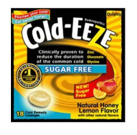 COLD-EEZE Lozenges Natural Honey Lemon Sugar Free 18 per box [091108103366]