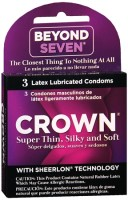 Crown Natural Rubber Latex Condoms Lightly Lubricated 3 Each [028373200032]
