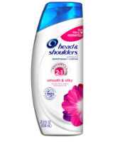 Head & Shoulders 2 In 1 Smooth & Silky Dandruff Shampoo + Conditioner 21.9 oz [037000731887]