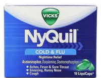 Vicks Nyquil Cold & Flu Relief LiquiCaps 16 ea [323900014398]