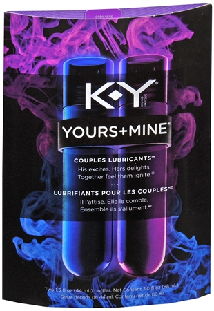 K-Y Yours + Mine Couples Lubricants 3 oz [380040088924]