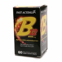 Fast Acting B12 2500 mcg Tablets Cherry Flavor 60 ea [636652916217]
