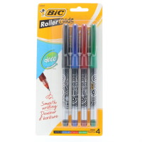Bic Z4+ Roller, Assorted 4 ea [070330328303]