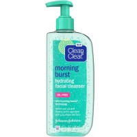 CLEAN & CLEAR Morning Burst Oil-Free Hydrating Facial Cleanser, 8 oz [381371156863]