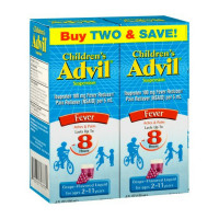 Advil Children's Fever Ibuprofen Liquid Suspension, Grape 8 oz, Twin Pack [305731707731]