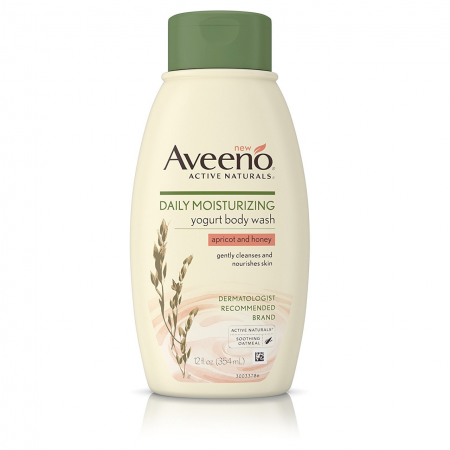 AVEENO Active Naturals Daily Moisturizing Body Yogurt Body Wash, Apricot & Honey 12 oz [381371168262]