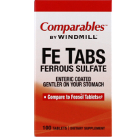 Comparables By Windmill Fe Tabs Ferrous Sulfate Tablets 100 Tablets [035046000806]