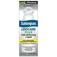 Salonpas LIDOCAINE PLUS Pain Relieving Liquid 4% Lidocaine Maximum Strength 3 oz [355328901035]