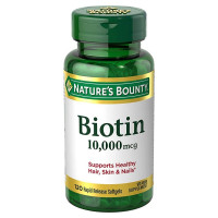Nature's Bounty Biotin 10,000 mcg, Rapid Release Softgels 120 ea [074312516979]