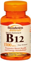 Sundown B-12 1500 mcg Tablets Time Release 60 Tablets [030768609627]