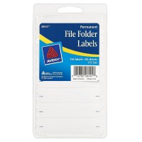 Avery Permanent File Folder Labels 2.75 x 0.625 Inches, White 156 ea [072782061418]