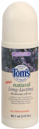 Tom's of Maine Natural Long-Lasting Deodorant Roll-On Lavender 3 oz [077326622032]