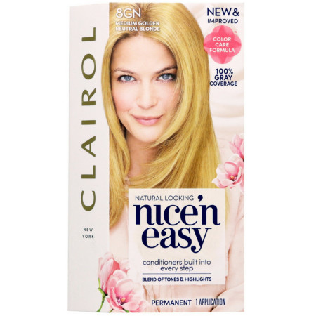 Nice 'n Easy Sun Kissed Permanent Color - 8GN Medium Golden Neutral Blonde 1 Each [070018116529]