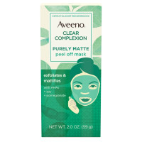 AVEENO Clear Complexion Pure Matte Peel Off Face Mask with Alpha Hydroxy Acids, Soy & Pomegranate for Clearer-Looking Skin 2  oz [381371181735]