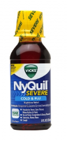 Vicks  Nyquil Severe Cold & Flu Nighttime Relief Liquid, Berry, 8 oz [323900038141]