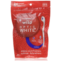 Colgate Wisp Optic White Mini-Brushes, Cool Mint 24 ea [035000680754]