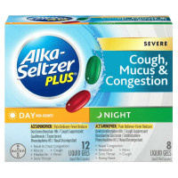 Alka-Seltzer Plus Day & Night Severe Cough, Mucus, & Congestion Liquid Gels 20 ea [016500559542]