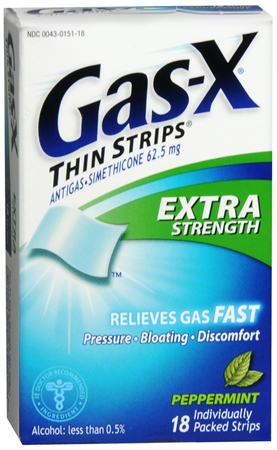 Gas-X Thin Strips Extra Strength Peppermint 18 Each [300430151182]