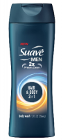 Suave Men Body Wash Hair + Body Wash 12 oz [079400370211]