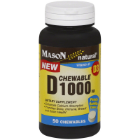 Mason Natural D 1000 IU Chewable Tablets, Peach Vanilla 50 ea [311845154699]
