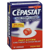 Cepastat Sore Throat & Cough Sugar Free Lozenges, Cherry 18 ea [363736110277]
