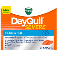 Vicks Dayquil Severe Cold & Flu Relief Caplets, 24 ea [323900038097]