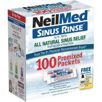 NeilMed Sinus Rinse All Natural Relief 100 Regular Mixture Packets [705928002005]