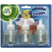 Air Wick Scented Oil Air Freshener, Familiar Favorites Collection, Snuggle Fresh Linen Scent, Triple Refill, 0.67 oz [062338928586]
