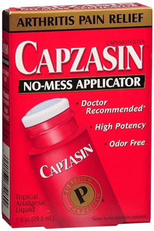 Capzasin Topical Analgesic Liquid No-Mess Applicator 1 oz [041167751800]