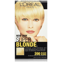 L'Oreal Paris Super Blonde Creme Lightening Kit, Bleach Blonde [200] 1 ea [071249200407]