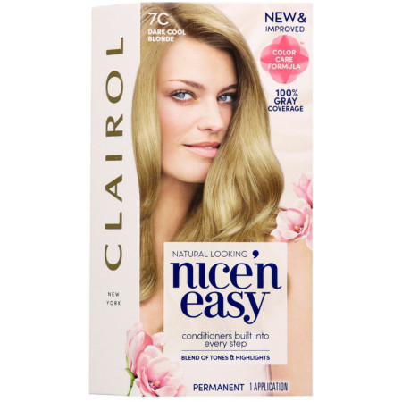 Nice 'n Easy Permanent Color - 7C Natural Dark Cool Blonde 1 Each [070018116680]