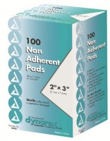 "Dynarex 2"" x 3"" Non-Adherent Sterile Pads  100 ea [616784342320]"