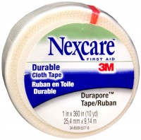 Nexcare Durapore Durable Cloth Tape 1 Inch X 10 Yards, 12 Pack (12 rolls per carton)   [051131000209]
