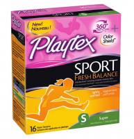 Playtex Sport Fresh Balance Tampon, Super Scented, 16 ea [078300002178]