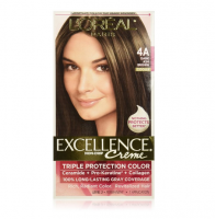 L'Oreal Paris Excellence Creme Haircolor, Dark Ash Brown [4A] (Cooler) 1 ea [071249154267]