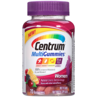 Centrum MultiGummies Women Multivitamin/Multimineral Supplement Gummies, Cherry, Berry, Orange 70 ea [300054861702]
