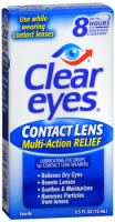 Clear Eyes Contact Lens Relief Soothing Eye Drops 0.50 oz [678112653218]