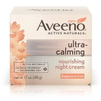 AVEENO Active Naturals Ultra-Calming Nourishing Night Cream, Fragrance Free 1.70 oz [381371163069]