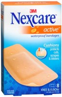 Nexcare Active Extra Cushion Bandages Knee & Elbow 8 Each [051131997172]