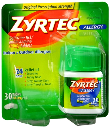 Zyrtec Allergy 10 mg Tablets 30 Tablets [312547204361]