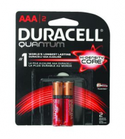Duracell Quantum High-Density Core AAA Batteries 2 ea [041333662480]