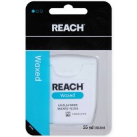 REACH Unflavored Waxed Dental Floss, 55 yds [381370092131]