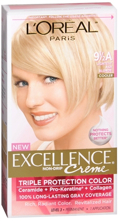 L'Oreal Excellence Creme - 9-1/2A Lightest Ash Blonde (Cooler) 1 Each [071249210789]