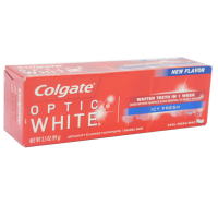 Colgate Optic White Icy Fresh Anticavity Fluoride Toothpaste, Cool Fresh Mint 3.50 oz [035000763730]
