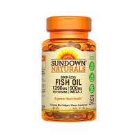 Sundown Naturals Odorless Fish Oil 1290 mg, 900 mg Omega-3, 72 ea   [030768186739]