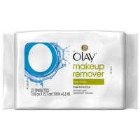 OLAY Makeup Remover Wet Cloths, Fragrance-Free 25 ea [075609194436]
