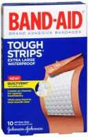 BAND-AID Tough-Strips Adhesive Bandages Extra Large 10 Each [381370055662]